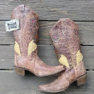 Corral Vintage Hand Crafted Cowboy Boots Size 9.5